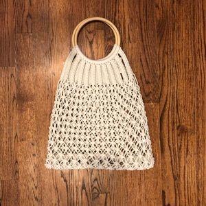Handbags - Macrame White Beach Bag
